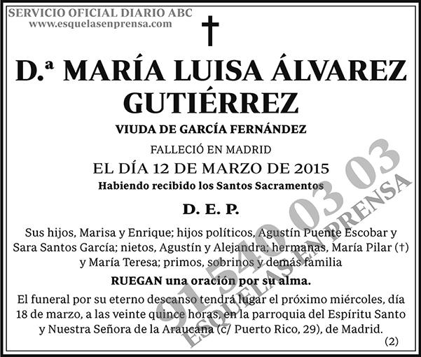María Luisa Álvarez Gutiérrez
